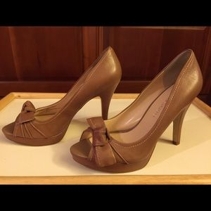 Franco Sarto Leather 4 inch high heels!
